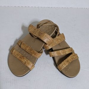 Vionic (8 Wide) Faux Cors Strappy Banded Sandals